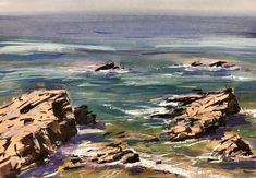 "Timothy Kitz · ""Rocks Study"" Leo Carrillo State Beach 6X8"" gouache Leo Carrillo State Beach, Nathan Fowkes, Gouache, Rocks, Study, Water, Outdoor, Gripe Water, Outdoors"