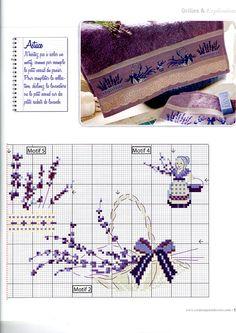 'Un parfum de lavande' from 'Creation Point de Croix' No. 22, July/August 2012