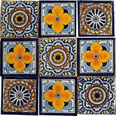 "9 Hand Painted Talavera Mexican Tiles 4""x4"" Spanish Influ... http://www.amazon.com/dp/B00BYH96J4/ref=cm_sw_r_pi_dp_jCDtxb0YZ77PB"