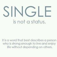Single is not a status inspiration