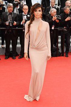 Eva Longoria in Vionnet | Cannes Fashion - Red Carpet Dresses at Cannes 2014 - Harper's BAZAAR
