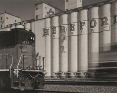 Patrick Alt, Hereford Grain, Locomotive, Moving Train-Hereford, Texas Western Photography, Berenice Abbott, Ansel Adams, The Past, Texas Things, History, Locomotive, Crosses, Viajes