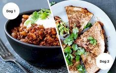 Mad til 2 dage: Chili con carne & Quesadilla med grov guacamole