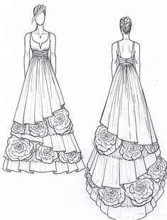 Design Dress Drawing Gown Design Preview Sketch