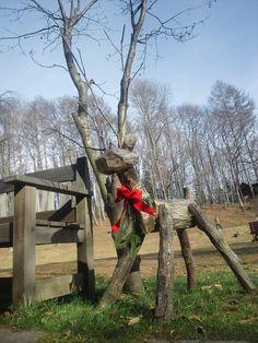 reindeer made of wood