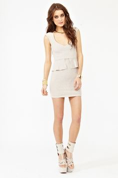 im loving this cream colored party dress