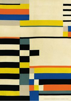 Love this Bauhaus textile! Would be an awesome area rug.