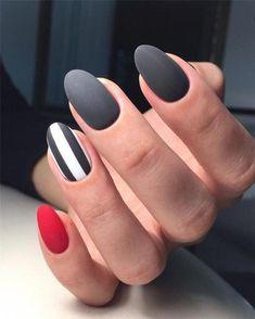 100 Elegant Black Nails Design Ideas Exceptional Look 2019 - Page 81 of 102 - Soflyme Flower Nail Designs, Black Nail Designs, Pretty Nail Designs, Short Nail Designs, Nail Art Designs, Nails Design, Matte Nail Art, Black Nail Art, Black Nails Short