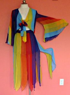 Rainbow Gay Pride Chiffon Drag Queen Dance Outfit Skirt Top Nyan Cat Costume Fab