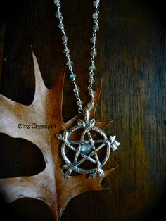 Woodland Pentacle Necklace by EireCrescent on Etsy, $59.99, #pagan, #witchcraft, #pentacle