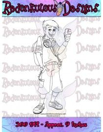 Trendy Teen Boy - Digital Stamp