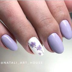 Nail art Christmas - the festive spirit on the nails. Over 70 creative ideas and tutorials - My Nails Lilac Nails Design, Purple Nail Designs, Best Nail Art Designs, Purple Nails, Violet Nails, Cute Nails, Pretty Nails, My Nails, Homecoming Nails