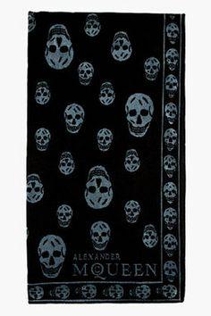 Givted-black & grey sa skull #towel #scarf