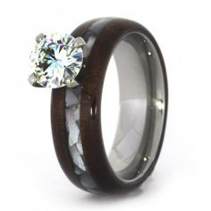 Honduran Rosewood Diamond Engagement Ring