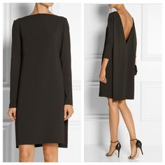 Calvin Klein Collection Brown Espresso Open Back Low Back Shift Mid-length Cocktail Dress Size 2 (XS) Classy Dress, Classy Outfits, Casual Dresses, Fashion Dresses, Cocktail Outfit, Calvin Klein Collection, Dress Tutorials, Fashion Beauty, Womens Fashion