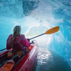 Toby Harriman Photography - Before coming to #Alaska kayaking in ice caves was...