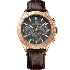Relógio Tommy Hilfiger Masculino Couro Marrom - 1791225