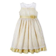 Rare Editions Very Dressy Lilac Soutache Dress w// Cummerbund Sash