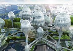Planning Korea unveils plans for futuristic pod city in the middle of Paris | Inhabitat - Sustainable Design Innovation, Eco Architecture, Green Building