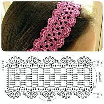opaska na szydełku schemat - Google Search [] # # #Crochet #Granny, # #Crochet #Hats, # #Google #Search, # #Jewelry, # #Bandanas, # #Headbands, # #Crochet, # #Ties, # #Bebe