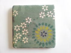 Green+floral+tumbled+marble+coaster+with+by+BaileyGirlCoasters,+$15.00