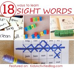 18 ways to learn sight words with your kids