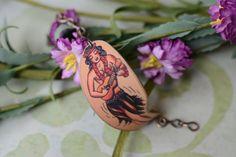 Hula Girl Tattoo Image Cuff Bracelet