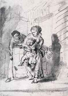 Child in a Tantrum, Rembrandt ~ the little one probably just needs refreshments and a nap