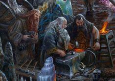 Dragonforge by Matt Steward Fantasy Dwarf, Fantasy Male, High Fantasy, Fantasy Rpg, Medieval Fantasy, Fantasy Artwork, Dwarf Fortress, Arcane Trickster, Tolkien