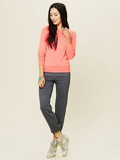 Off the Shoulder V-Back Pullover  #freepeople #solow #yoga