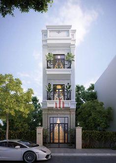 House Arch Design, 3 Storey House Design, Duplex House Design, Modern Small House Design, Classic House Design, Architecture Details, Modern Architecture, Ideas Cabaña, Hut House