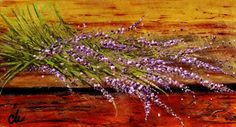 ARTFINDER: Scent of lavender.. by Cristina Mihailescu - Fresh lavender picked from my garden and painted for you!  THANK YOU for visiting my gallery and I really hope you will find something that will catch your...