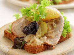 Skinkesteksmørbrød Sandwiches, Breakfast, Food, Pineapple, Roll Up Sandwiches, Morning Coffee, Meal, Essen, Hoods