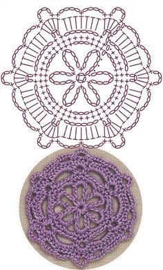 Best 6 Snowflake Medallion Lace Crochet Motifs / 눈송이 메달리온 모티브도안 – Page 228979962288807296 Crochet Flower Squares, Crochet Snowflake Pattern, Crochet Coaster Pattern, Crochet Motif Patterns, Crochet Symbols, Crochet Circles, Crochet Snowflakes, Granny Square Crochet Pattern, Crochet Mandala
