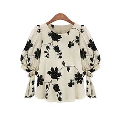 New Fashion Elegant Floral Embroidered Women Blouse O-neck Casual Cuff Straps Loose Shirt Brand Designer Tops
