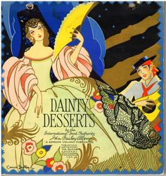 Carrie Dudley - Art Deco Cookbook Cover, ca. 1920s