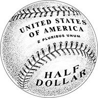 In 2014, the US Mint will issue a curved (i.e. domed) baseball-themed coin.  Very cool collectible for baseball fans out there.