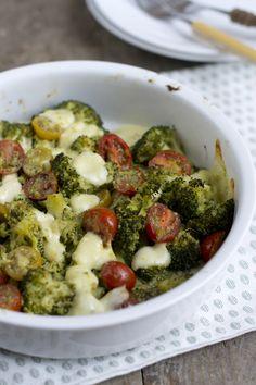 (bijgerecht bij bijv. zalm of kip) Gegratineerde broccoli caprese