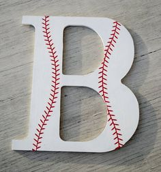 Decor ideas for boys rooms - sports ball monogram