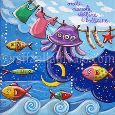 raffaelladivaio*illustrazione e creatività: NUOTARE TRA LE NUVOLE
