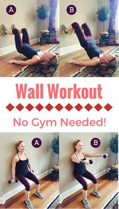 Can't find time in your busy schedule to get to the gym today? Try this awesome wall workout in the comfort of your own home to strengthen your glutes, legs and arms!