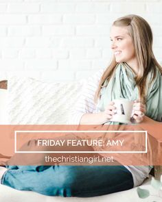 Amy is the creative heart behind Sincerely, Amy Designs. She has a beautiful soul and radiates God's love and grace. Cozy up and join us on the site for today's Friday Feature!