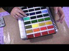 Lightfastness, swatches & review of Kuretake Gansai Tambi Japanese watercolour 36 set - YouTube