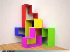 Tetris shelves.