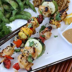 Menu Musings of a Modern American Mom: Toasted Sesame and Ginger Chicken Kabobs