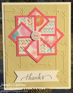 jd designs - CTMH card feat. Hopscotch and Variety of Thanks stamp set