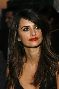 Dark Brown Hair With Highlights - I love everything about this look from the hair to her lips and her eyebrows are prefect!!
