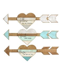 Another great find on #zulily! Wood Arrow Wall Sign - Set of Three #zulilyfinds