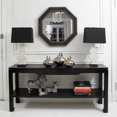 Black can be the perfect color for the furniture | Discover more http://modernconsoletables.net