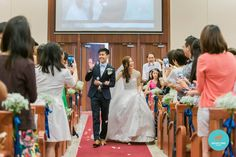 Real Weddings: Story of Sam & Bernie, Thompson Baptist Church & Fullerton Hotel – behind the scene of building a dream Wedding Advice, Wedding Planning Tips, Wedding Story, Our Wedding Day, Fullerton Hotel, Champagne Pop, Themes Photo, Church Ceremony, Strong Marriage